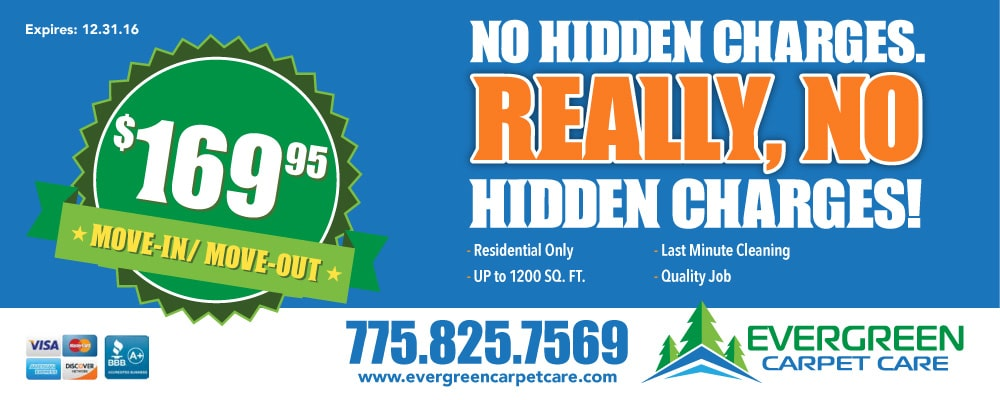 Cleaning Coupons And Specials Evergreen Carpet Care